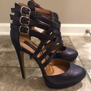 Sophia & Lee Purple Sparkle High Heels